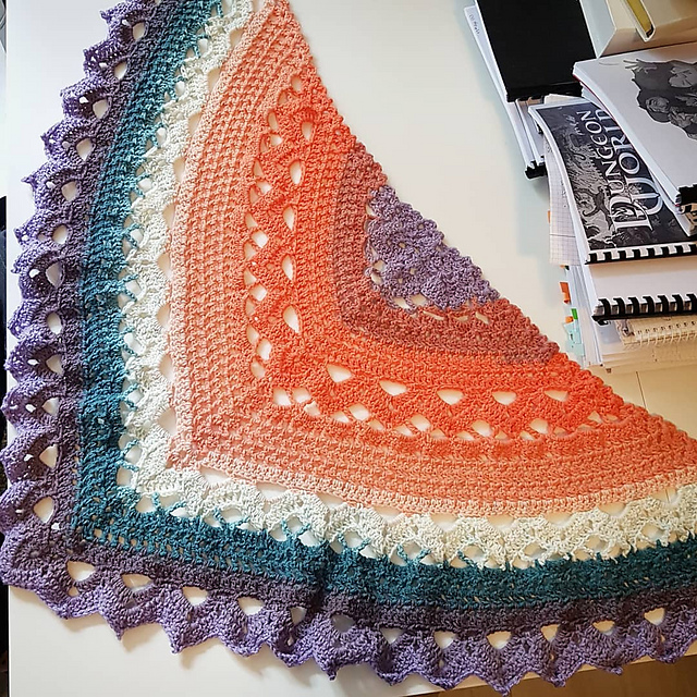 Spring Showers Shawl